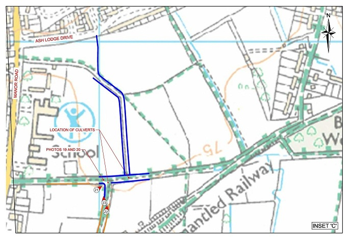 Watercourse route as supplied by Taylor Wimpey